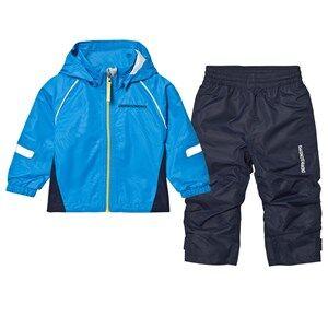 Didriksons Unisex Clothing sets Blue Zvoro Kids Rain Set Sharp Blue