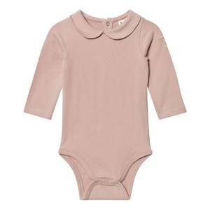 Image of Gray Label Girls All in ones Pink Collared Baby Body Vintage Pink