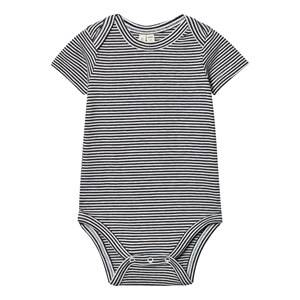 Gray Label Unisex All in ones Black Baby Body Nearly Black/Off White Stripes