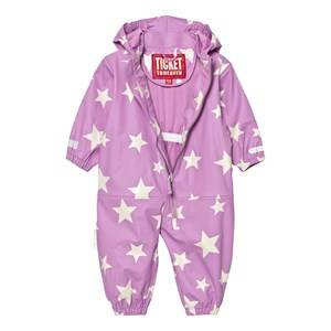 Ticket to heaven Girls Coveralls Pink Rain Suit Kody Authentic Rubber Allover Violet Rose