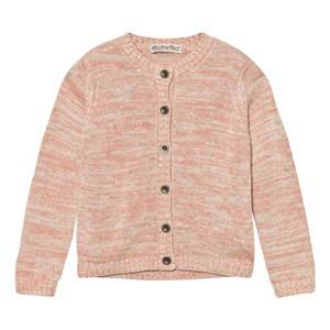 Image of Minymo Girls Jumpers and knitwear Pink Janie 48 Knit Cardigan Gray Morn