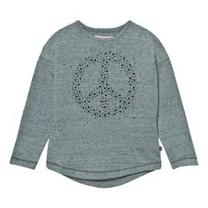 Minymo Girls Tops Grey Janie 40 Blouse With Stones Lead
