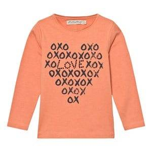 Minymo Girls Tops Red Janie 37 T-shirt With Print Crabapple