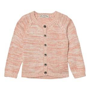 Image of Minymo Girls Jumpers and knitwear Pink Julia 54 Knit Cardigan Gray Morn
