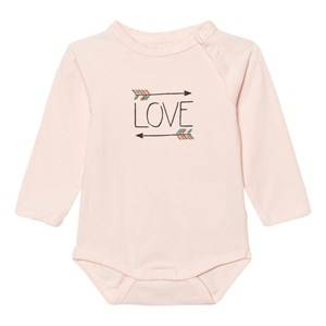 Image of Minymo Girls All in ones Pink Joo 30 Baby Body Print Evening Sand