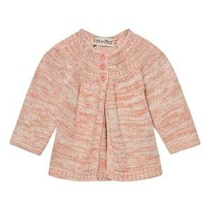 Image of Minymo Girls Jumpers and knitwear Pink Joo 58 Knit Cardigan Gray Morn