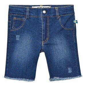 The BRAND Unisex Private Label Shorts Blue Raw Shorts Stonewashed Blue