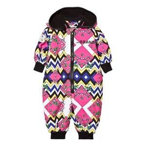 The BRAND Unisex Private Label Coveralls Pink Multi Overall Multi Color
