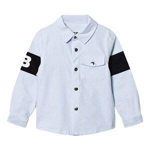The BRAND Unisex Private Label Tops Blue Captain Shirt Thin Blue Stripe Classic