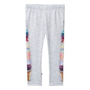 Molo Girls Bottoms Grey Nikia Leggings Giant Soft Ice