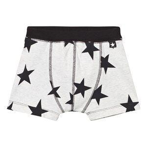 Molo Boys Underwear Black Jon Boxer Briefs Black Star Print