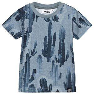 Molo Boys Tops Blue Rooney T-Shirt Goblin Camo Cactus