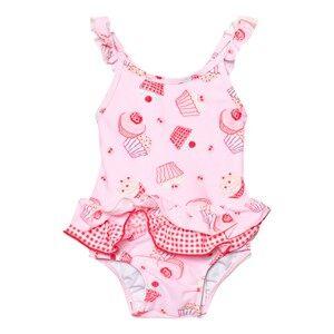 Image of Sunuva Girls Swimwear and coverups Pink Infants Pink Mini Cupcake Frill Swimsuit