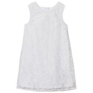 Image of Mayoral Girls Dresses White White Jersey Lace Dress