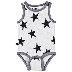 Image of Molo Boys All in ones Grey Fadel Baby Body Black Star Print