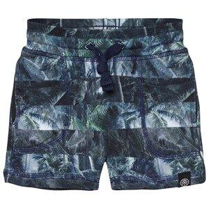 Molo Boys Shorts Blue Ajaz Shorts Camo Palm Stripes