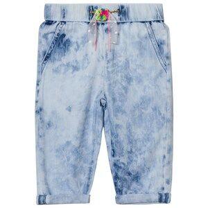 Billieblush Girls Bottoms Blue Acid Wash Jeans Pom Pom