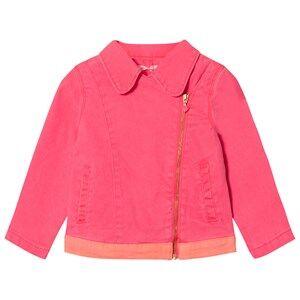 Billieblush Girls Coats and jackets Pink Hot Pink Twill Biker Jacket