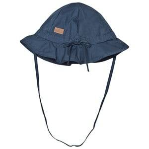 Melton Unisex Headwear Navy Hat With Brim And Bow Solid Marine