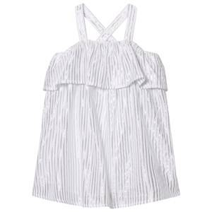 Image of Carrément Beau Girls Dresses Silver Silver Lurex Frill Dress