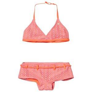 Image of Oneill Girls Swimwear and coverups Pink Pink Structure Halter Bikini