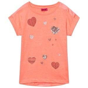 Me Too Girls Tops Orange Kitt Tunic Bright Coral