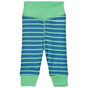 Geggamoja Unisex Bottoms Blue Premature Pant Marine And Green