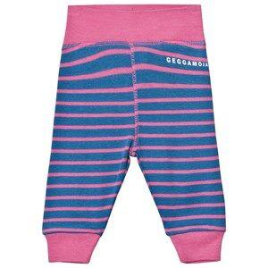 Geggamoja Girls Bottoms Blue Premature Pant Marine And Pink