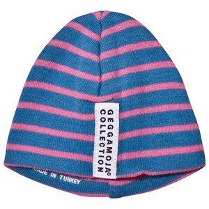 Geggamoja Girls Headwear Blue Premature Cap Marine And Pink