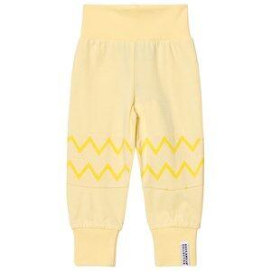 Geggamoja Unisex Bottoms Yellow Babypant Yellow Zick Zack