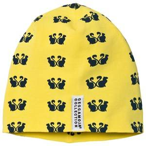 Geggamoja Girls Headwear Yellow Limited Edition Cats Hat