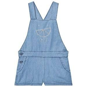 Image of Emile et Ida Girls All in ones Blue Overall Chambray