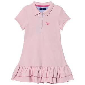 Gant Girls Dresses Pink Pink Pique Polo Dress