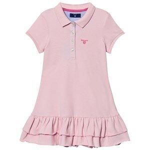 Gant Girls Dresses Pink Pink Pique Polo Dress