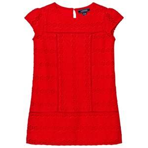 Image of Lands End Girls Tops Red Broderie Anglaise Top