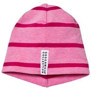 Geggamoja Girls Headwear Pink Hat Pink Melange And Dark Pink