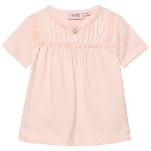 Noa Noa Miniature Girls Tops Pink Baby Basic Top Organic Jersey Peach Blush