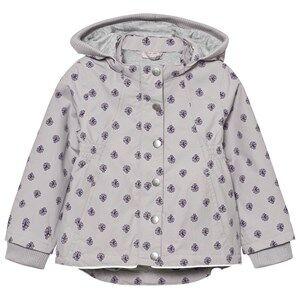 Noa Noa Miniature Girls Coats and jackets Purple Printed Spring Jacket Gull Grey