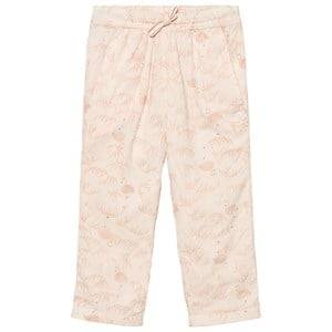 Noa Noa Miniature Girls Bottoms Pink Mini Voile Pants Printed Pink Tint