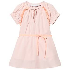 Image of Kiss How To Kiss A Frog Girls Dresses Multi Suki Dress Powder And Orange