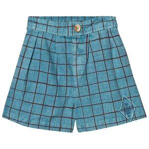 Bobo Choses Boys Shorts Blue Legend Net Bermuda Turquoise Blue