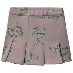 Bobo Choses Girls Skirts Grey Flamingos Skirt Chateau Grey