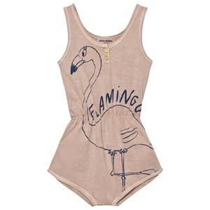 Bobo Choses Girls All in ones Pink Flamingo Romper Off Rose