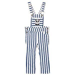 Mini Rodini Unisex All in ones Blue Striped Overalls Blue