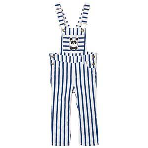 Mini Rodini Unisex All in ones Blue Striped Overalls Blue