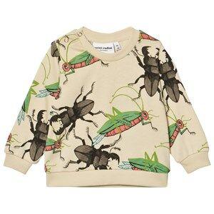Mini Rodini Unisex Jumpers and knitwear Beige Insects Sweatshirt Beige
