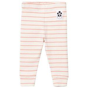 Mini Rodini Unisex Bottoms Pink Stripe Rib Leggings Pink