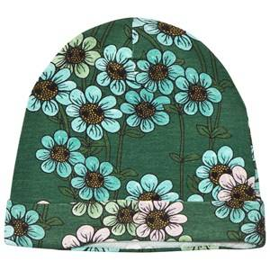 Mini Rodini Unisex Headwear Green Daisy Beanie Dark Green