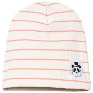 Mini Rodini Unisex Headwear Pink Stripe Rib Beanie Pink
