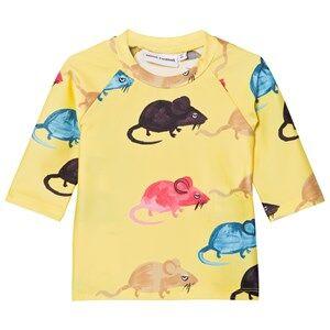 Mini Rodini Unisex Swimwear and coverups Yellow Mr Mouse Uv Top Yellow